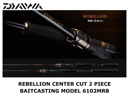 Daiwa Rebellion Center Cut 2 Piece Baitcasting Model 6102MRB