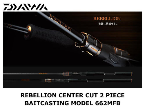 Daiwa Rebellion Center Cut 2 Piece Baitcasting Model 662MFB
