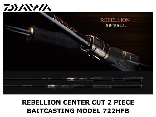 Daiwa Rebellion Center Cut 2 Piece Baitcasting Model 722HFB