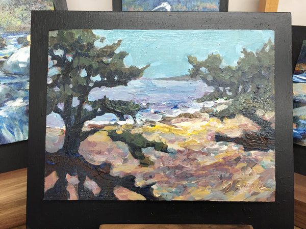 Painting - Evergreens on Shore