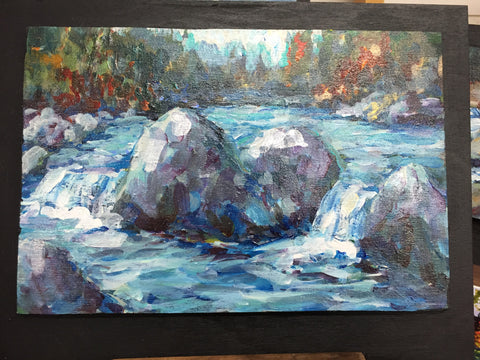 Painting - Boulders in Stream