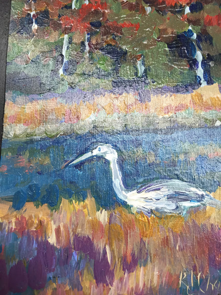 Painting - Heron on Shore