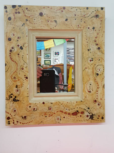 Pine Mirror with Dots