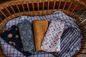 Stone Fruit - Organic Double Gauze Swaddle