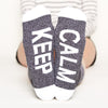 Good Vibes Only socks gift set Keep Calm bottom front view