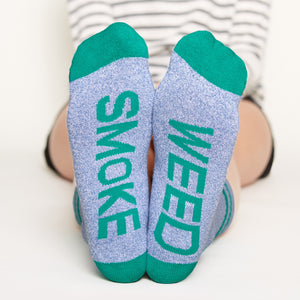 Smoke Weed Socks bottom front view