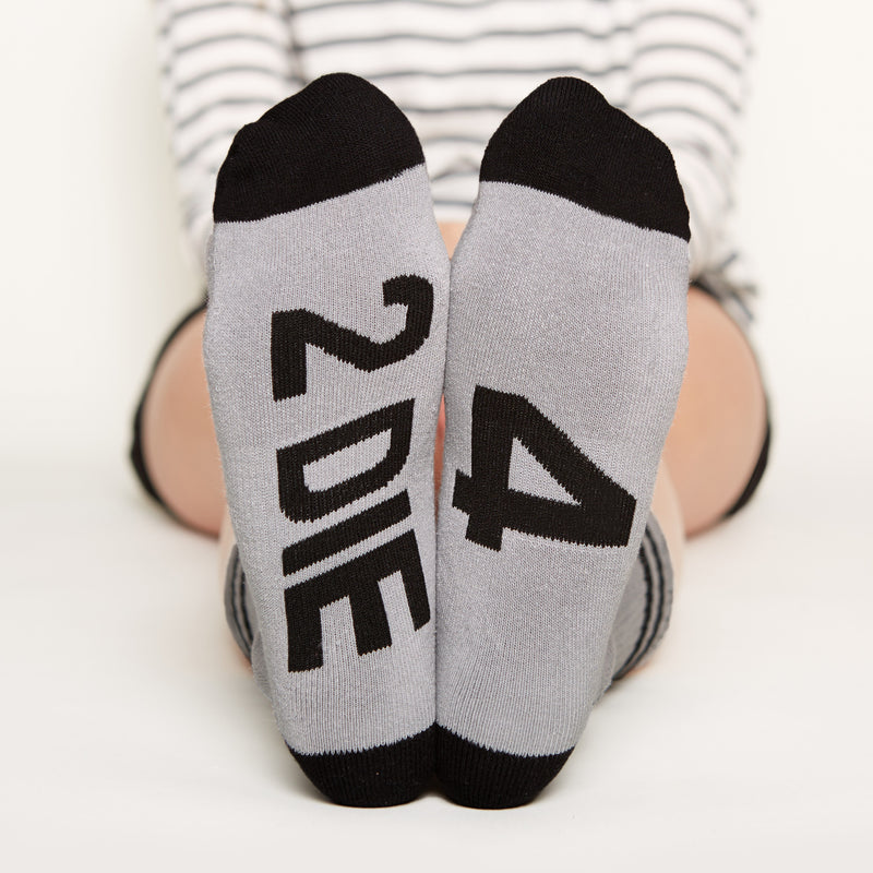 2 Die 4 Socks bottom front view