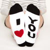 I love You sock Gift Set, I heart you bottom front view