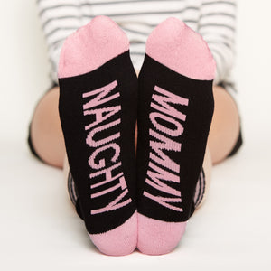 Naughty Mommy Socks bottom front view