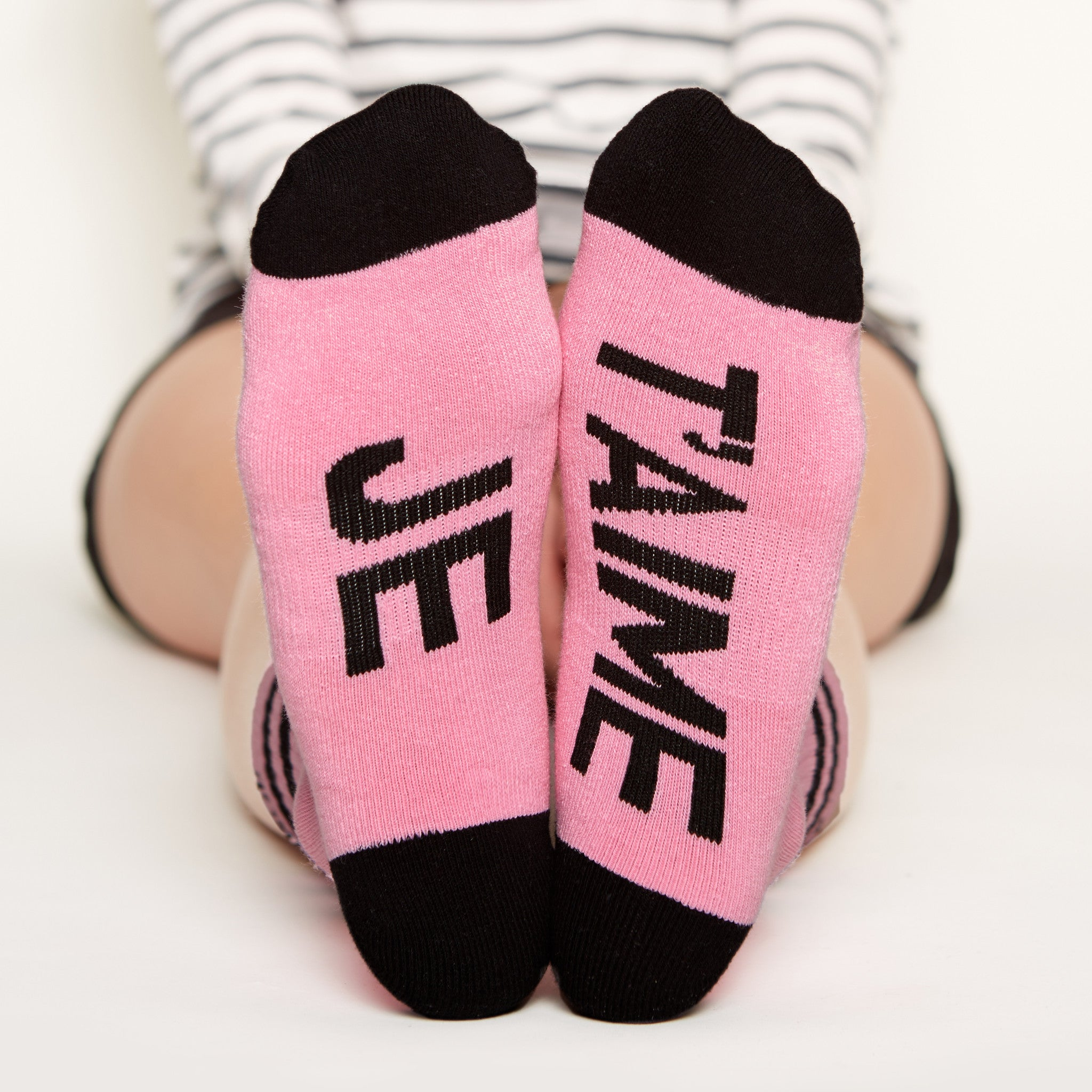 Je T'aime Socks bottom front view