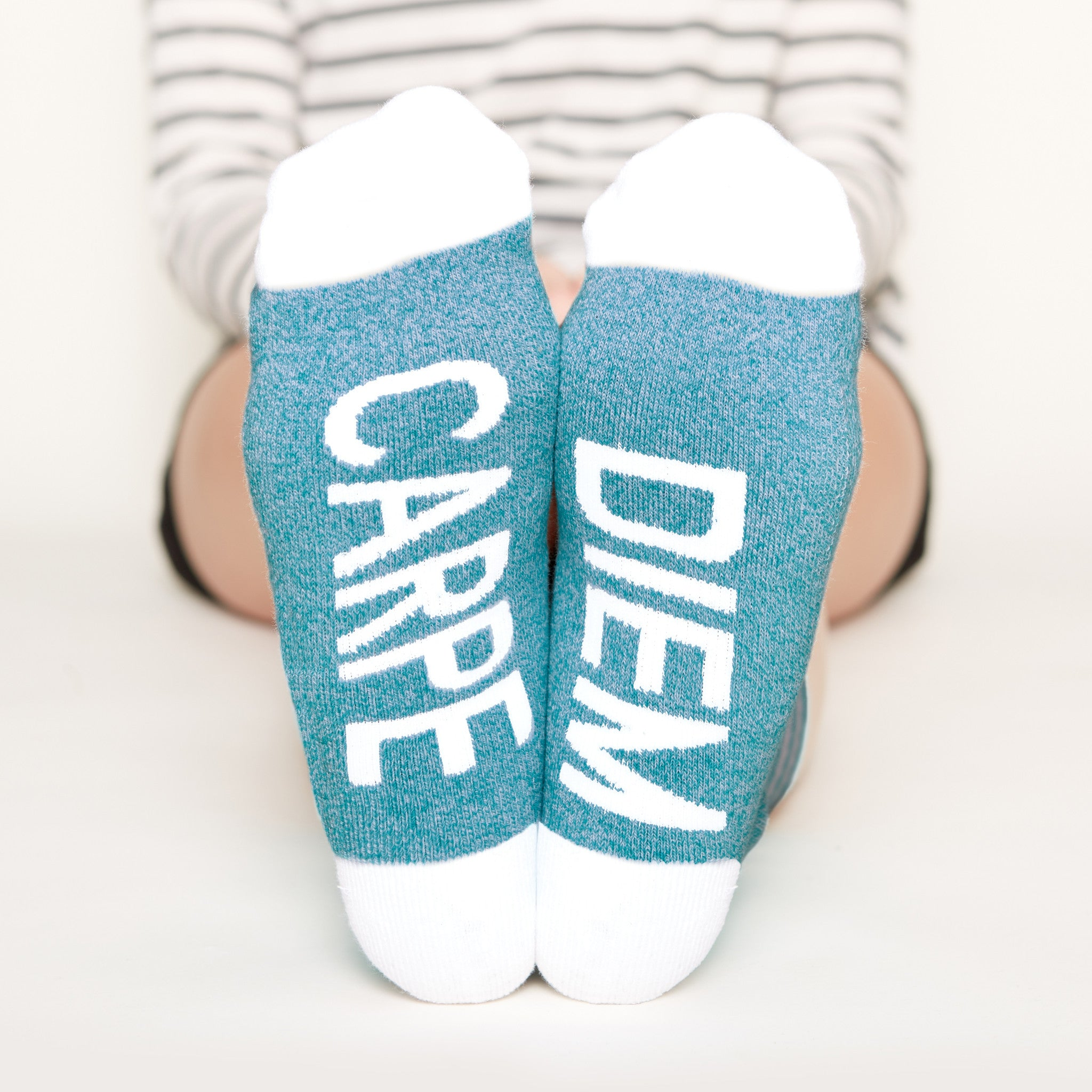 Carpe Diem Socks bottom front view