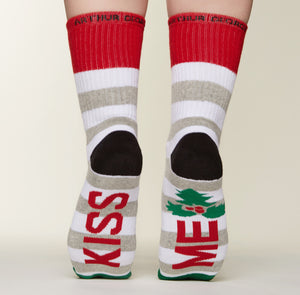 Kiss Me socks bottom back view