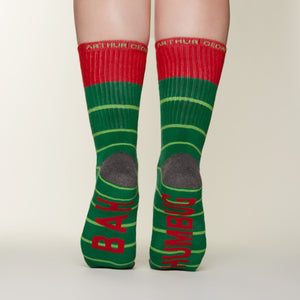 Bah Humbug socks bottom back view