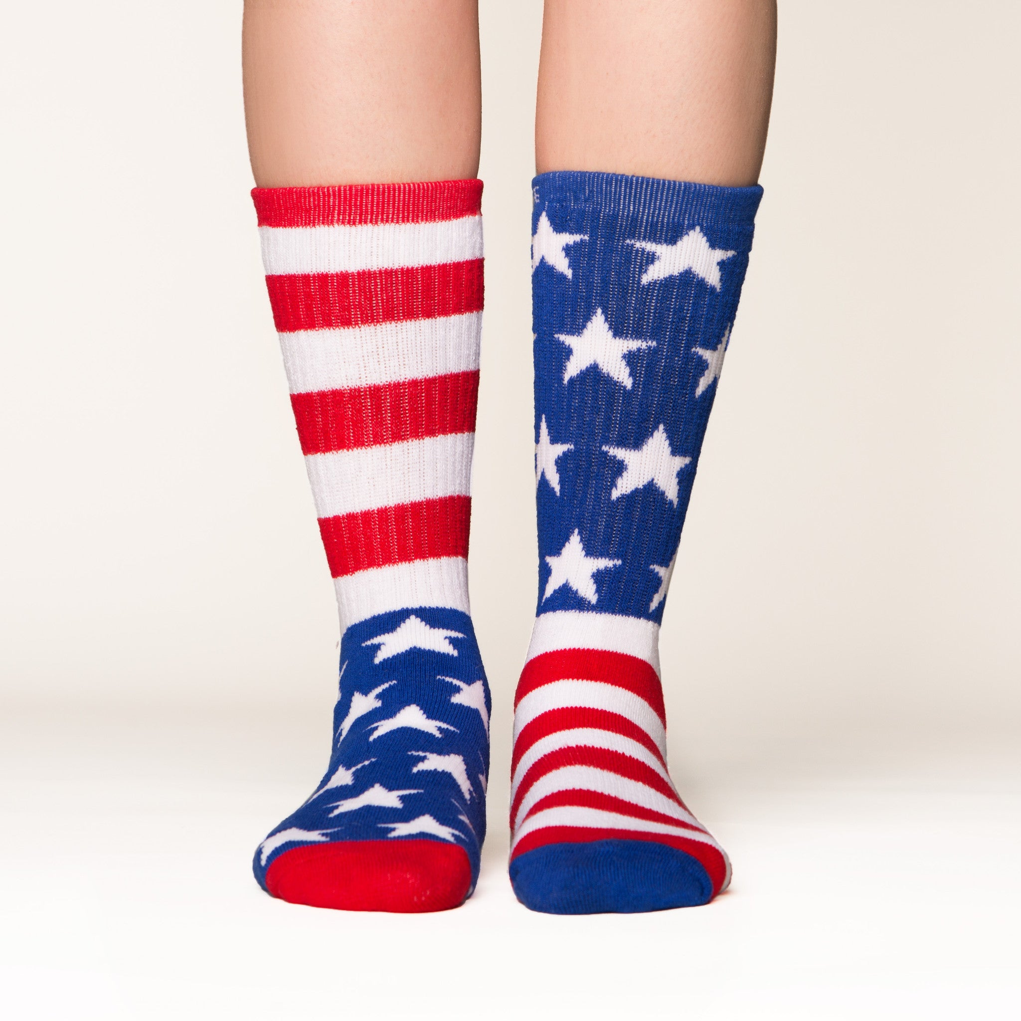 American Flag socks front view