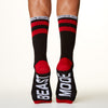 Beast Mode socks bottom back view