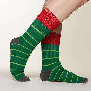 Bah Humbug socks side profile view
