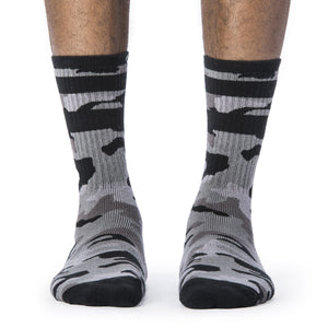 Grey Camo Socks front view