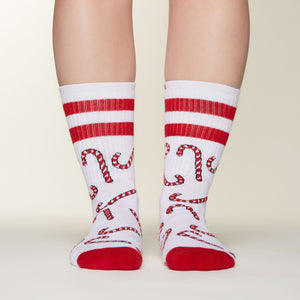 Candy Cane socks front view
