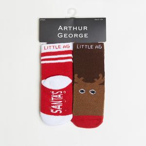 Santa's Helper/Reindeer Kids Socks bottom back view