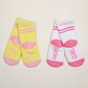 Daddy's Girl Kid's socks two pack bottom view