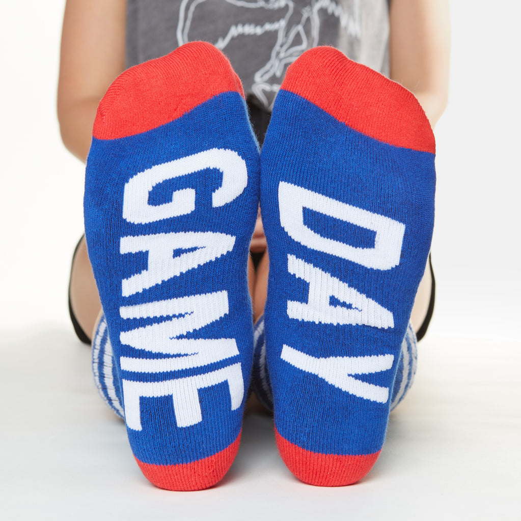 GAME DAY Socks - Red, White and Blue