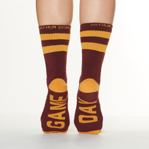 Game day socks bottom back view