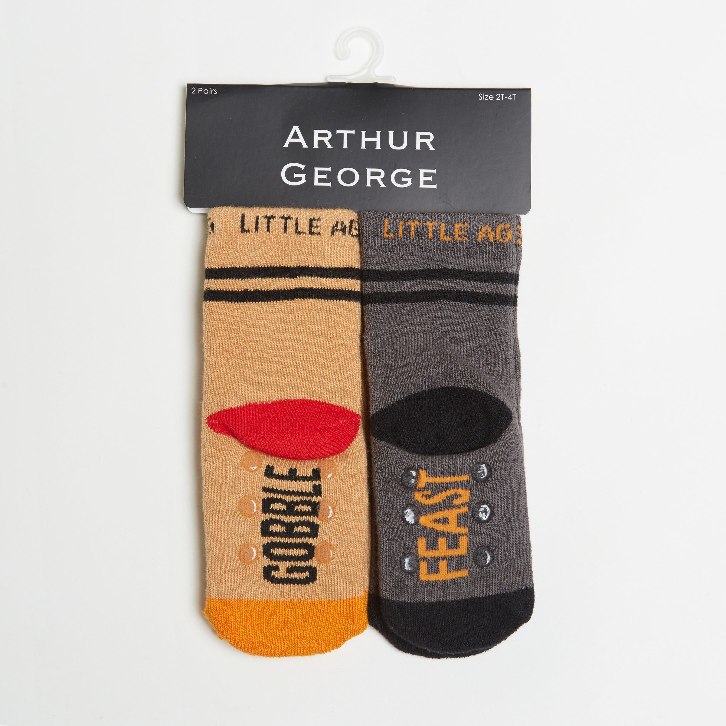 Gobble Gobble/ Feast Mode socks two pack bottom view side by side