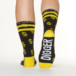 Gold Digger socks bottom right view
