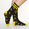 Gold Digger socks side profile view