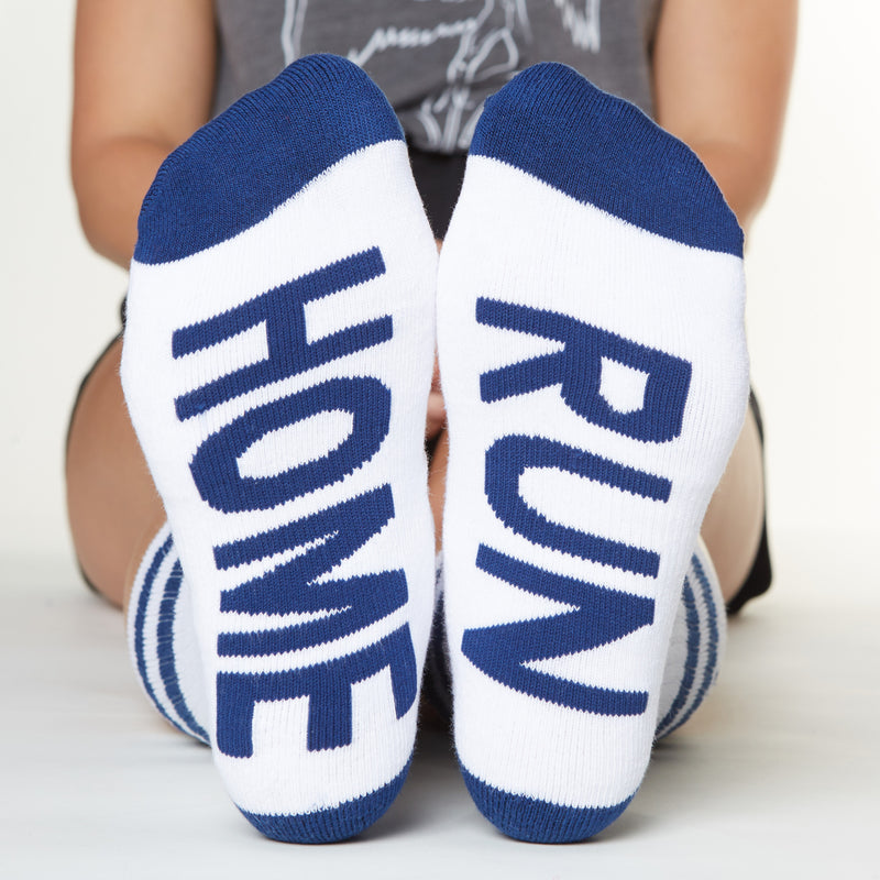 Home Run socks bottom front view