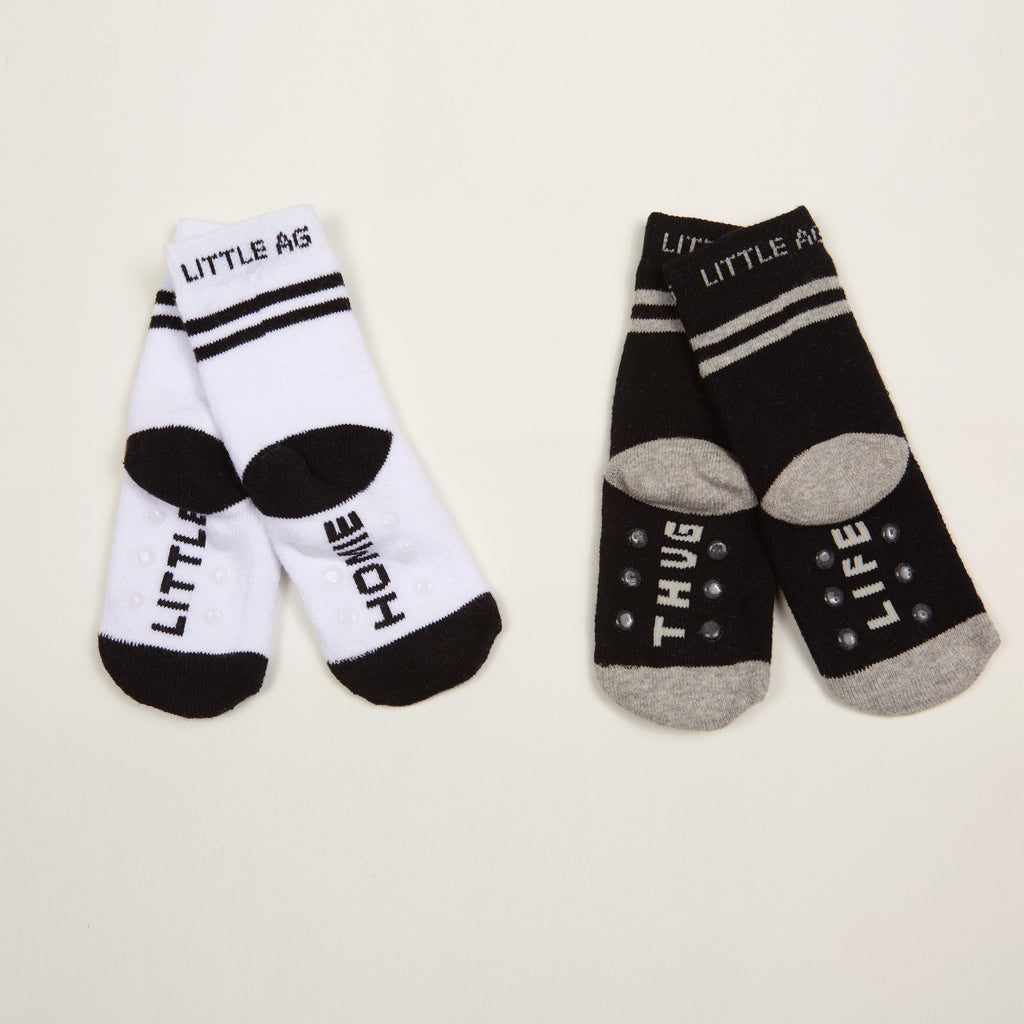 Little Homie/Thug Life Kids Socks - Two-Pack
