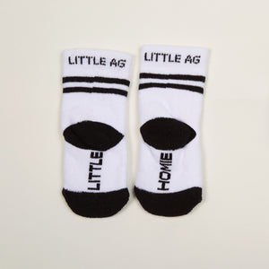 Little Homie/Thug Life kids socks two pack bottom back view