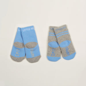 Spit Happens Kids Boys Socks - Two Pack bottom back view crossed