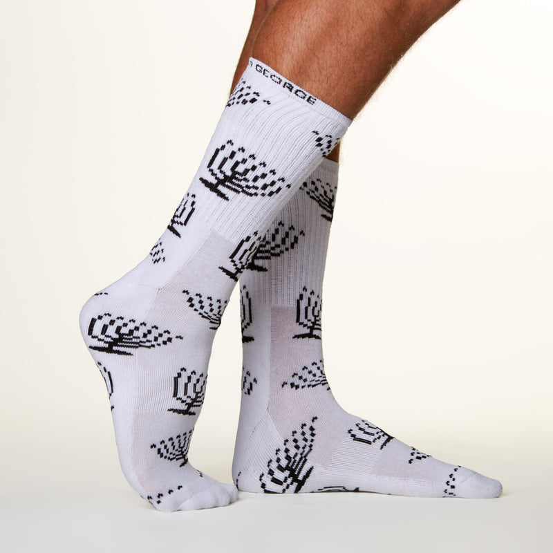 Menorah Socks side profile view