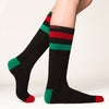 Naughty nice socks side profile view