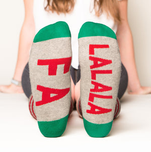 Fa Lalala socks bottom front view