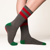 Mistle Toes socks grey side profile view