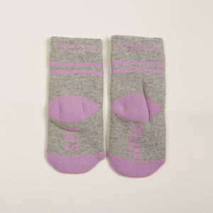 Spit Happens Kids Girls Socks - Two Pack bottom back view