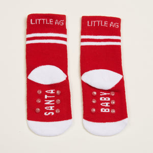 Santa Baby socks two pack - bottom back view