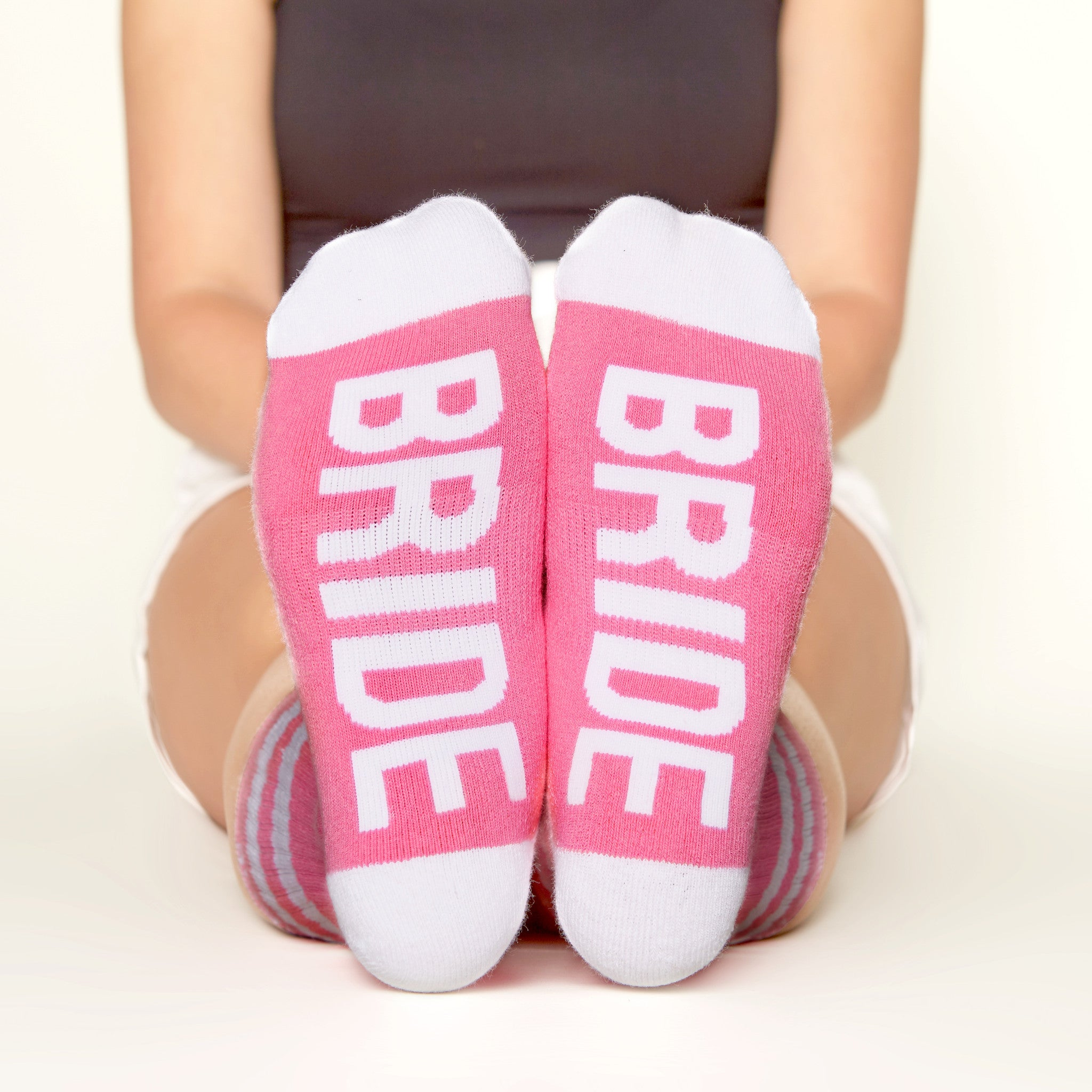 Wedding Sock Set (6 Pairs) - Womens bride  bottom front view