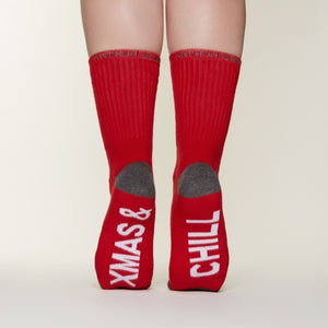 Xmas& Chill socks bottom back view