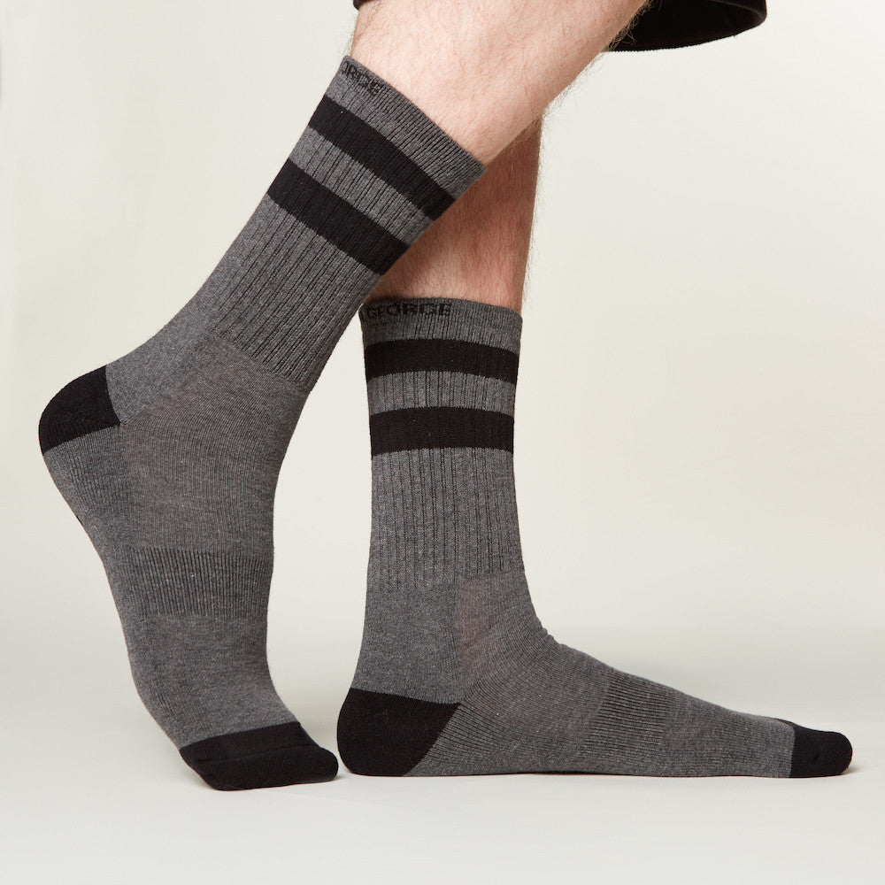 Scientifically designed, these men's work socks are built with the most effective and durable moisture wicking materials available. CoolMax® fibers allow perspiration to evaporate more efficiently than cotton, so your feet stay dry, no matter how much they sweat, no matter how long your workday is.