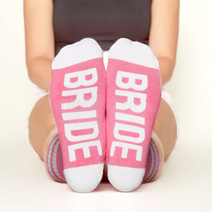 Bride Socks bottom front view