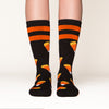 Candy Corn socks front view