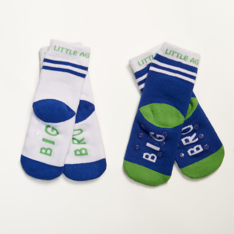 Big Bro kids socks two pack bottom view crossed
