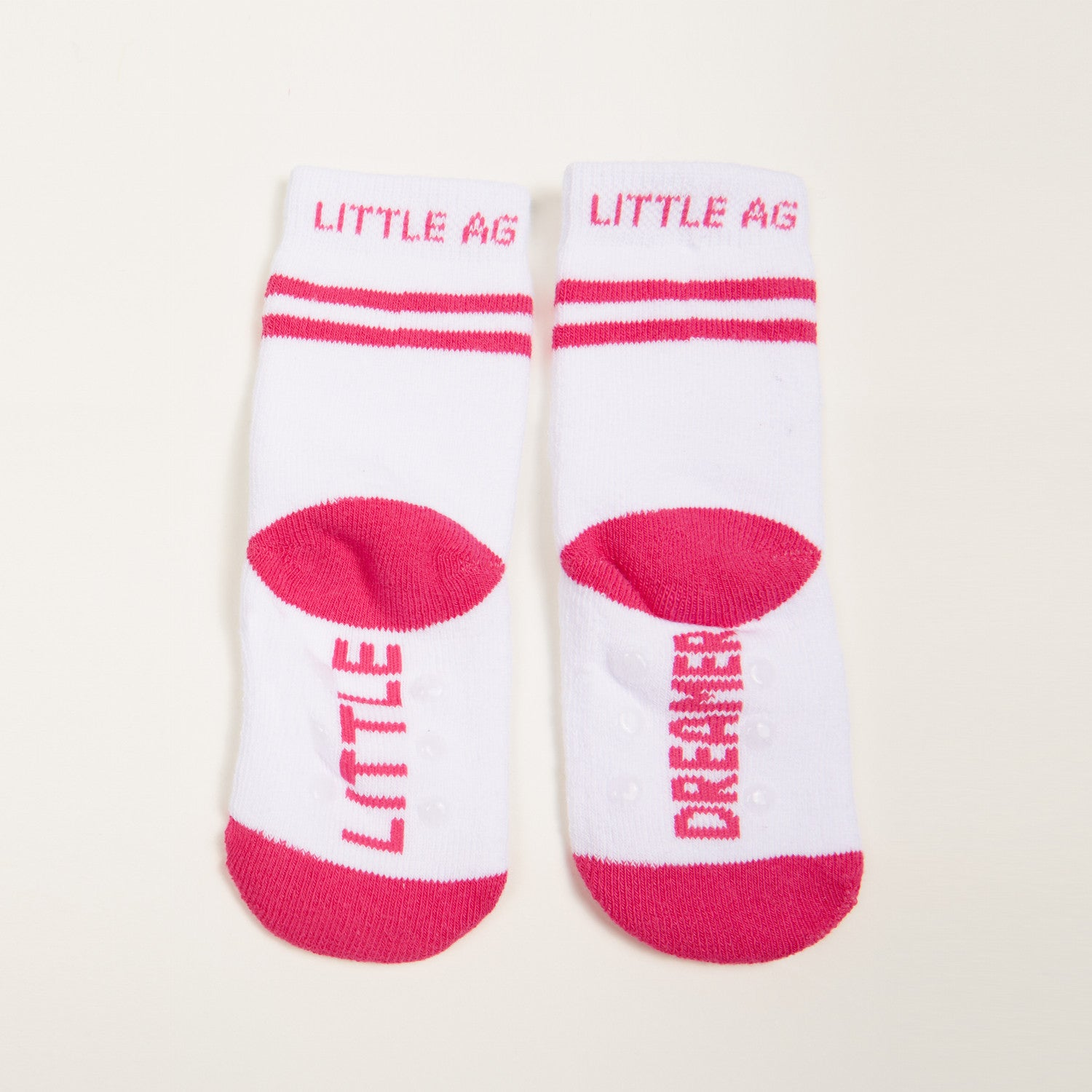 Little Dreamer kids socks girls two pack bottom back view