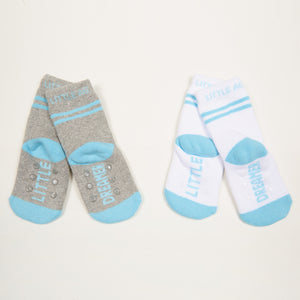 Little Dreamer kids socks boys bottom back view crossed