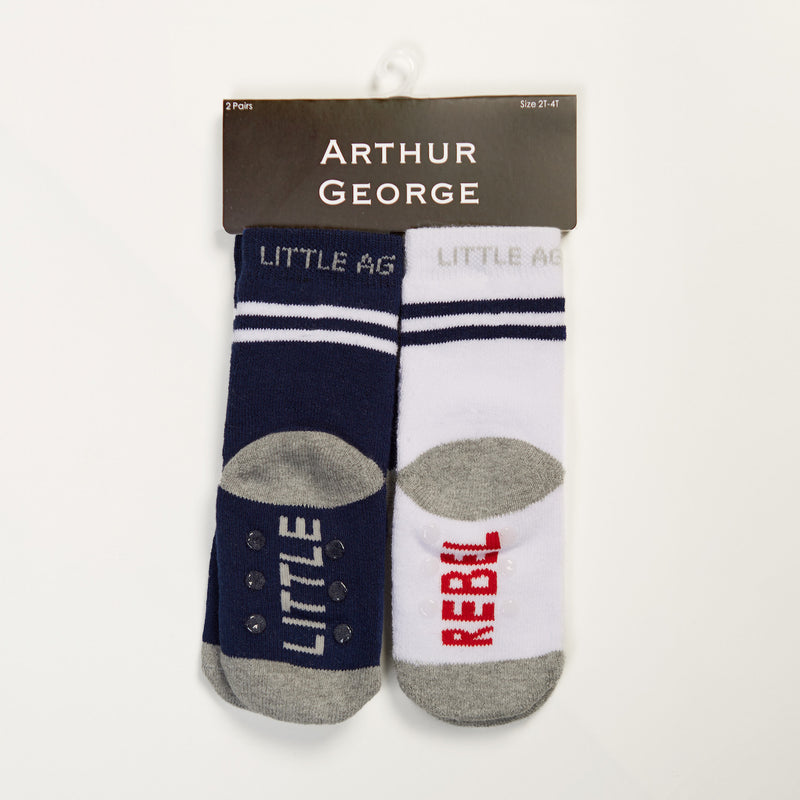 Little Rebel kids socks two pack bottom back view