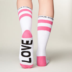 Love sick socks bottom left view