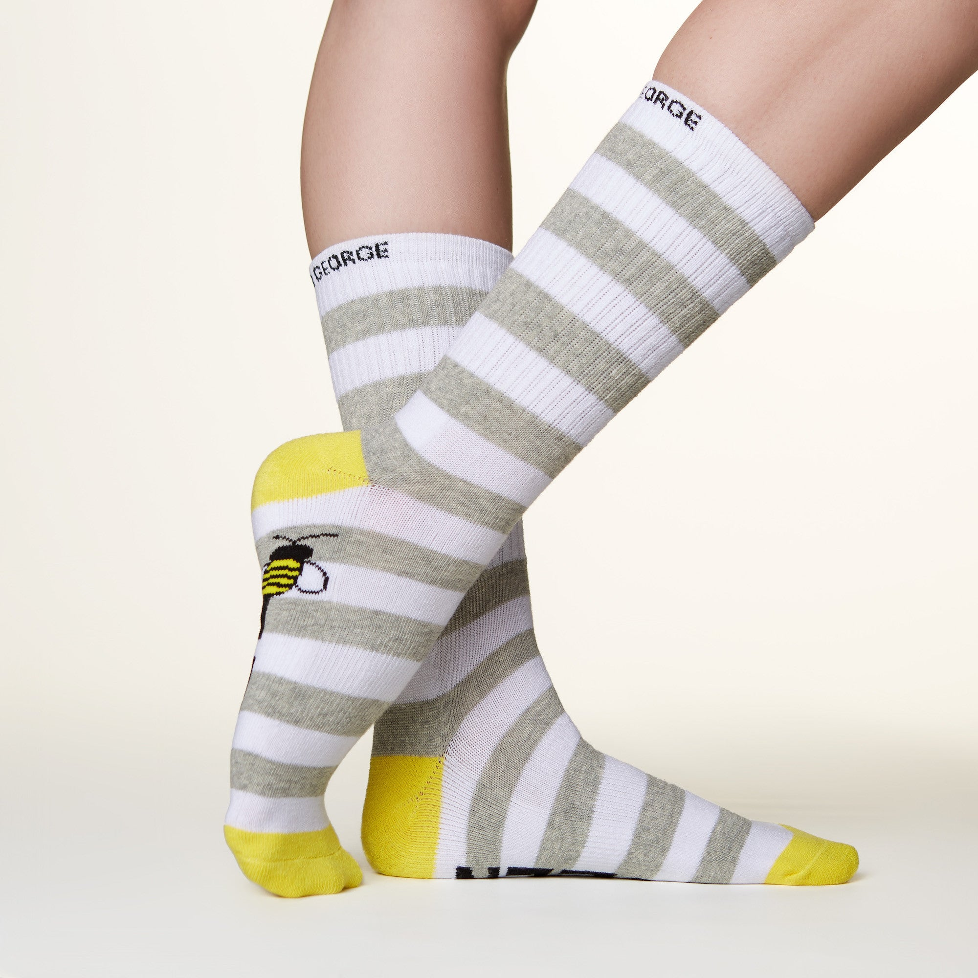 Queen bee socks side profile view
